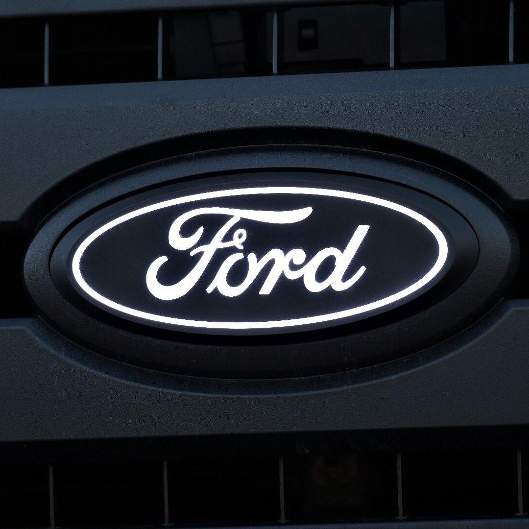 Ford Oval LED Emblem - Front White