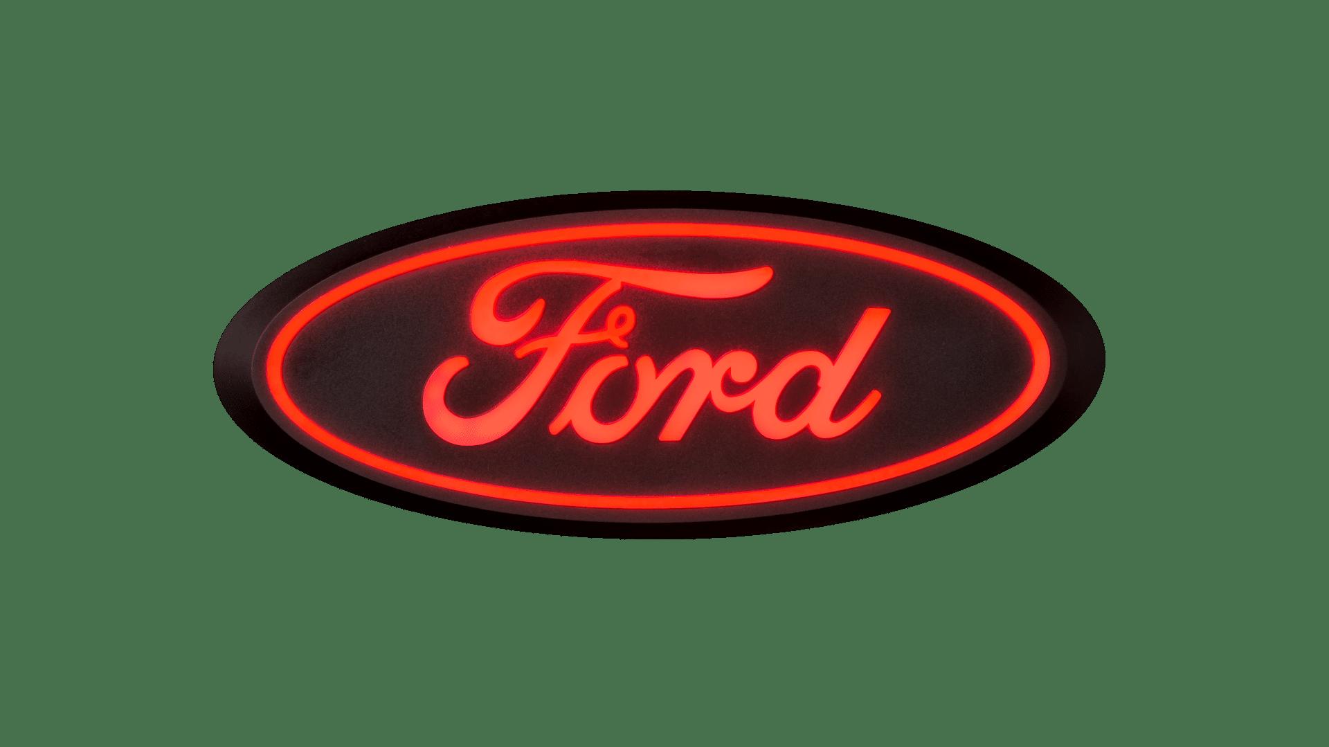 Ford LED Emblem - Red for Rear