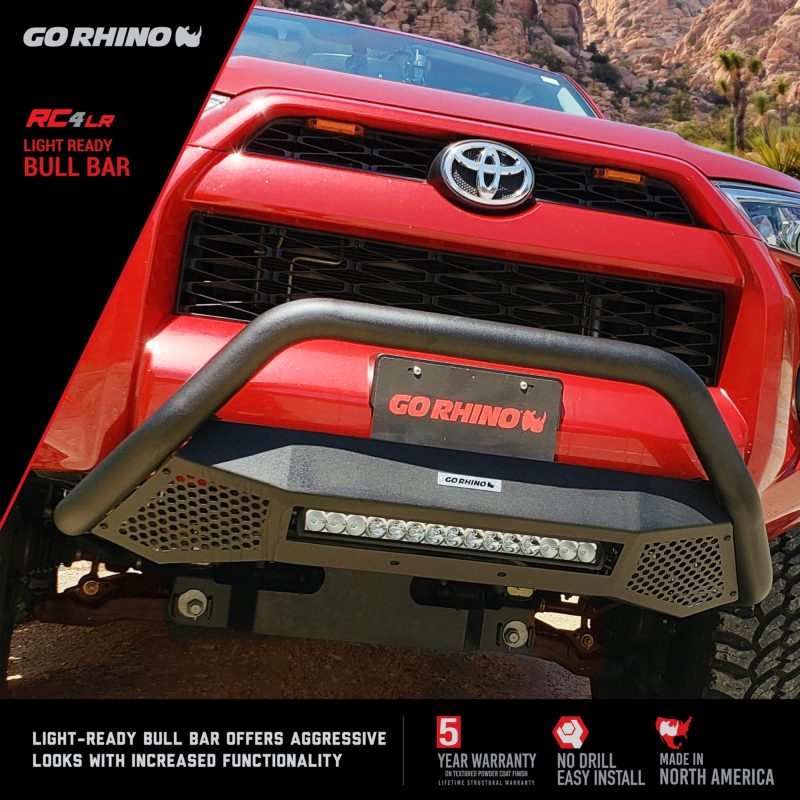GO Rhino Black Textured Bull Bar