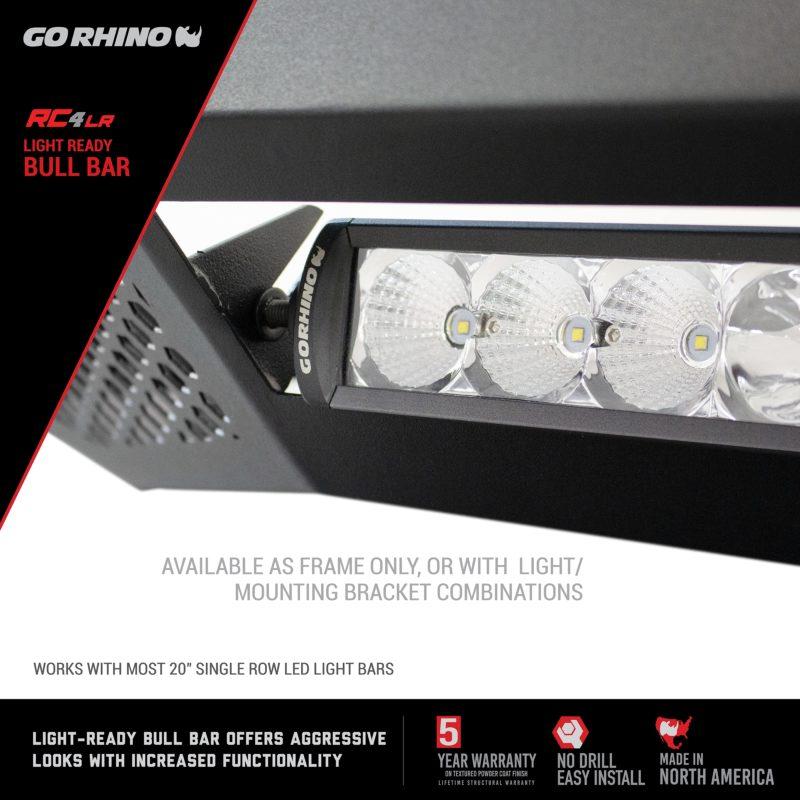 Go Rhino RC4 LR Bull Bar with LED Light Bar