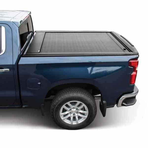 JackRabbit Matte Black Truck Bed Cover Side View