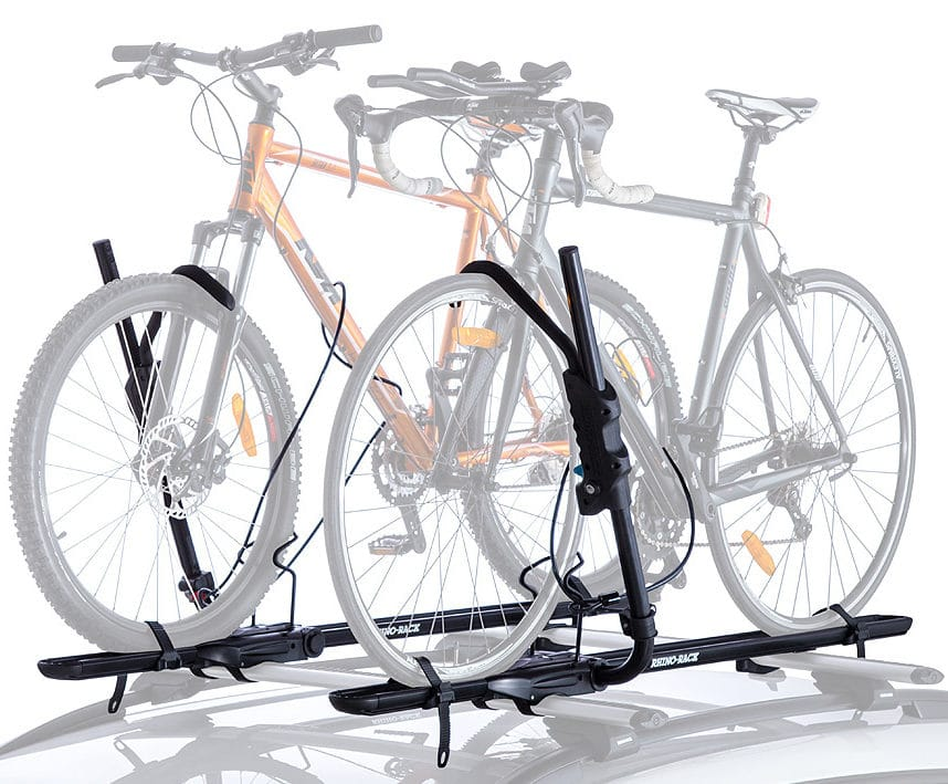 Get 1 or 2 Hybrid Cross Bar Mount Bike Racks