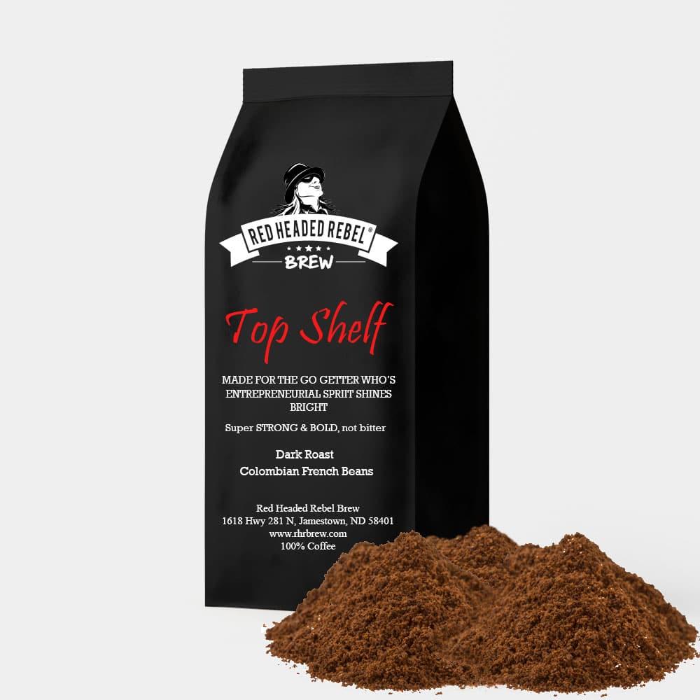 RHR Top Shelf Coffee - Regular Grind - 12 oz Bag