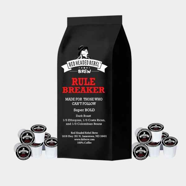 RHR Rule Breaker Coffee - Single Serve Cups - 50 Pack - Red Headed Rebel