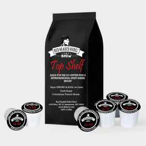 RHR Top Shelf Coffee - Single Serve Cups - 50 Pack - Red Headed Rebel