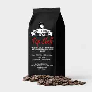 RHR Top Shelf Coffee - Whole Bean - 5 lb Bag - Red Headed Rebel