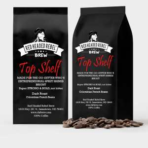 Red Headed Rebel Brew - Top Shelf Blend Coffee - 2 Pack - Two 12 oz Bags