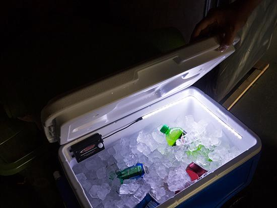 Motion Activated LED Lights in Cooler