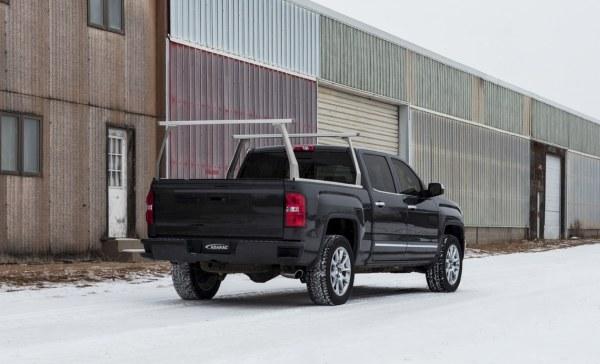 Adarac Aluminum Contour Truck Rack on GMC