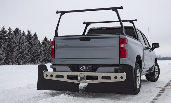 Adarac Black Matte Alum Contour Truck Racks on Chevy Silverado