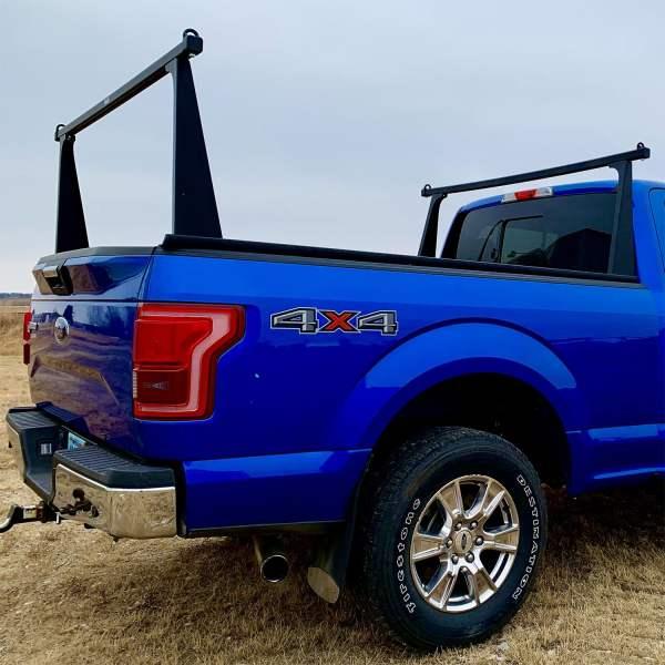 Adarac Matte Black Pro Truck Rack on Ford F150