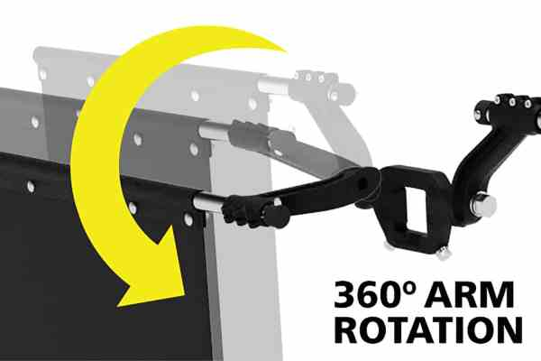 Adjustable Height Arms for Rock Tamers