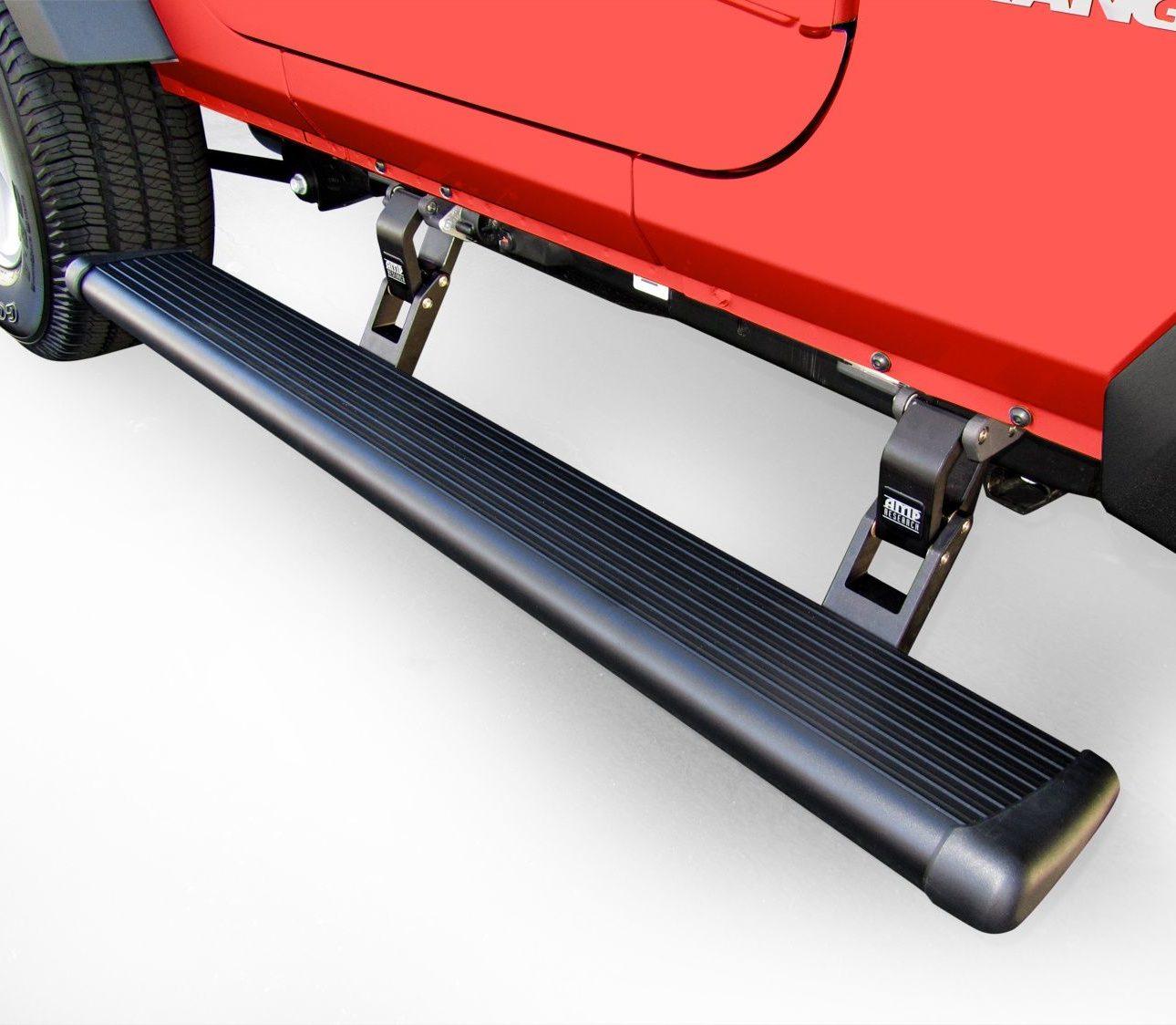 Amp Power Steps on Jeep Gladiator