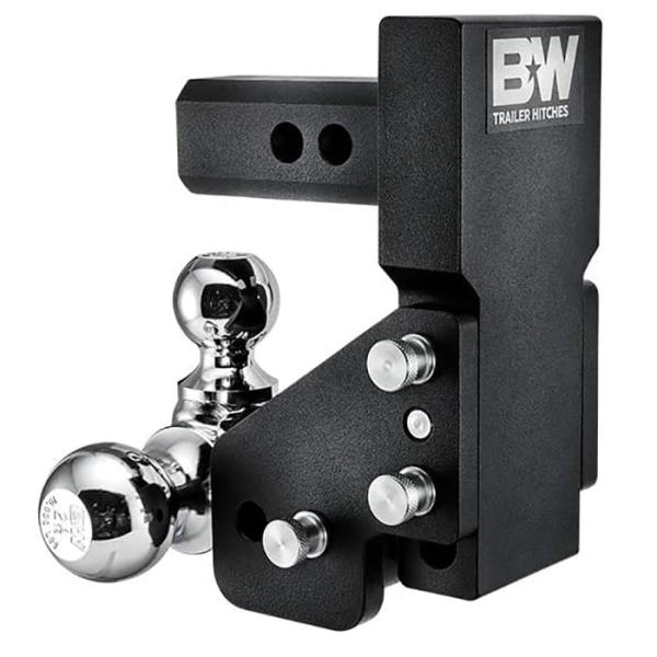 BandW Tow and Stow GM Multi-Pro Tailgate Adjustable Ball Mount Hitch Stored