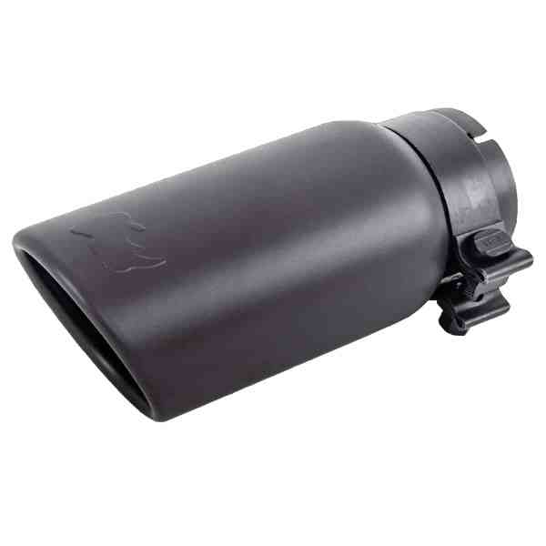 Black Powder Coated Finish Exhaust Tip