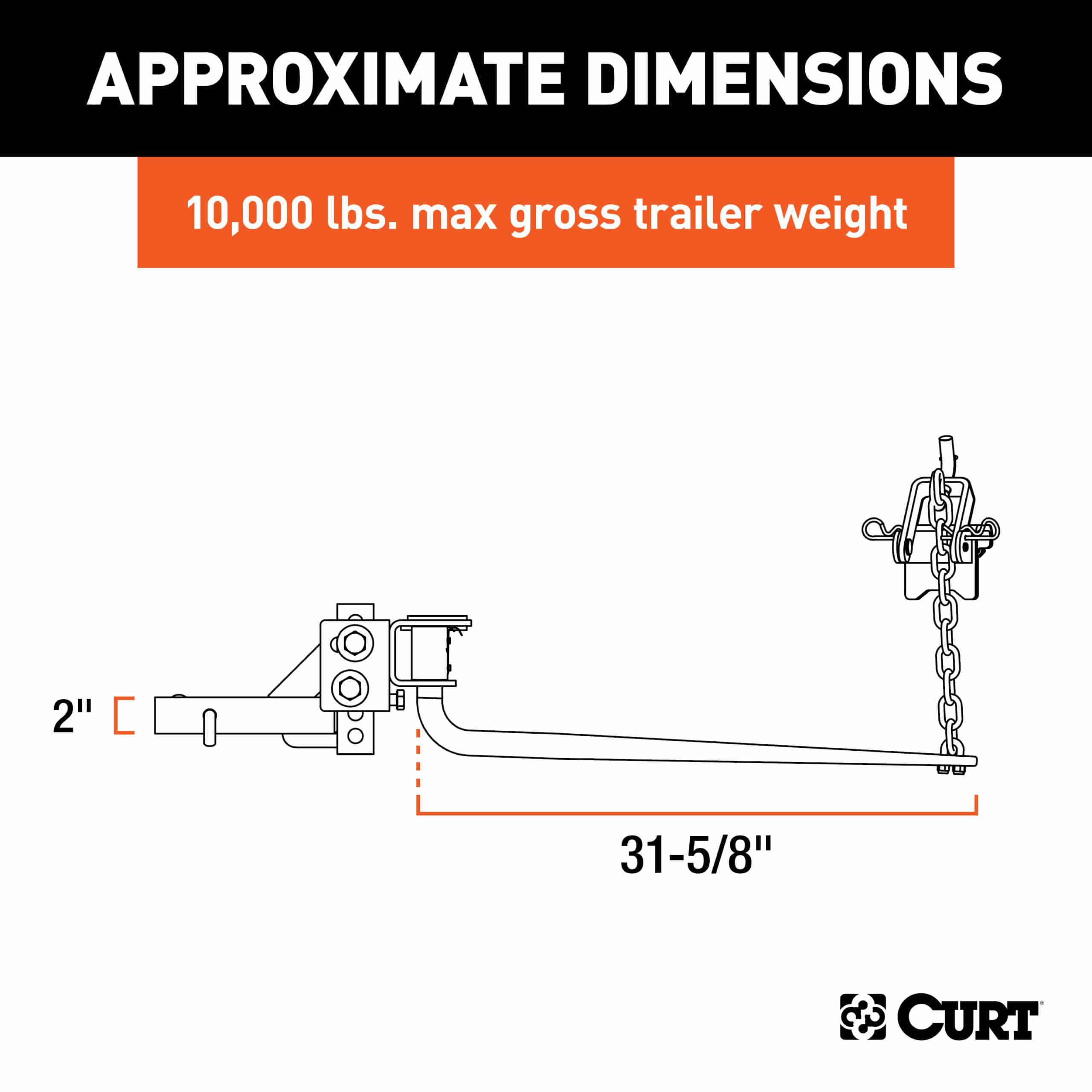 Curt 17002 Dimensions