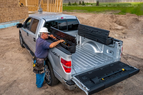Heavy-Duty, Roto-Molded Construction Great for Tough Work and Tools