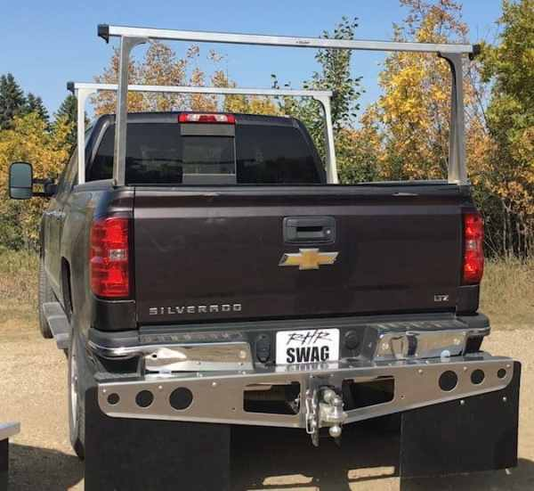 Ghost Cushion Hitch with RockStar Towing Mud Flaps