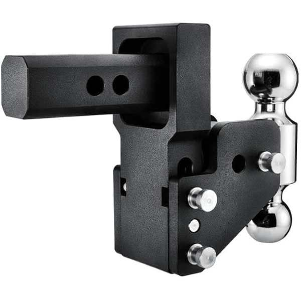BandW Tow and Stow GM Multi-Pro Tailgate Adjustable Ball Mount Hitch Side View