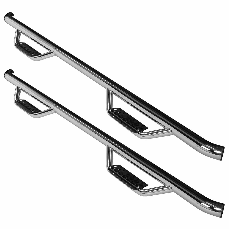 Go Rhino Stainless Steel Dominator 2 Side Drop Steps