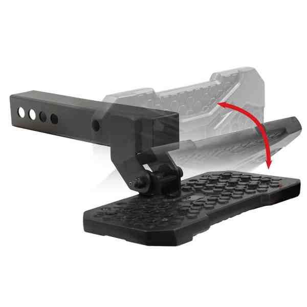 Go Rhino Fold Down License Plate Hitch Step