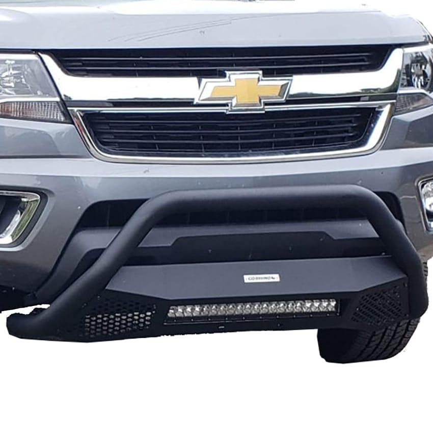 Go Rhino RC4 LR Bull Bar Skid Plate with LED Light Bar