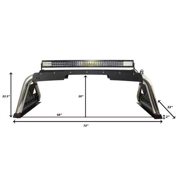 Full Size Truck Sport Bar 2.0 Dimensions