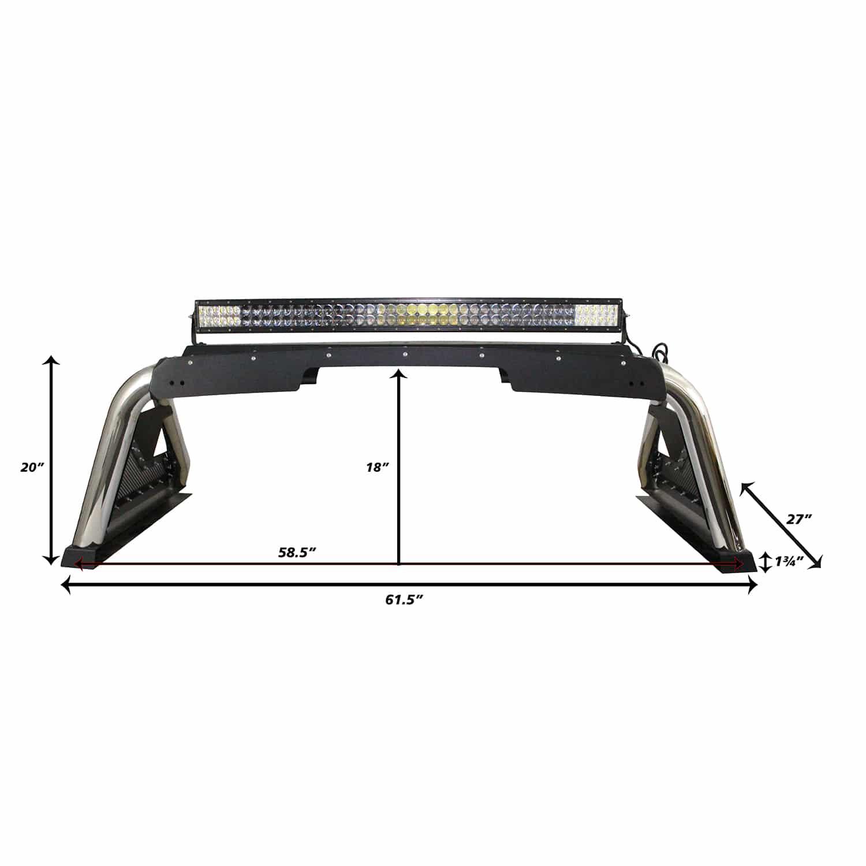 Mid Size Truck Sport Bar 2.0 Dimensions