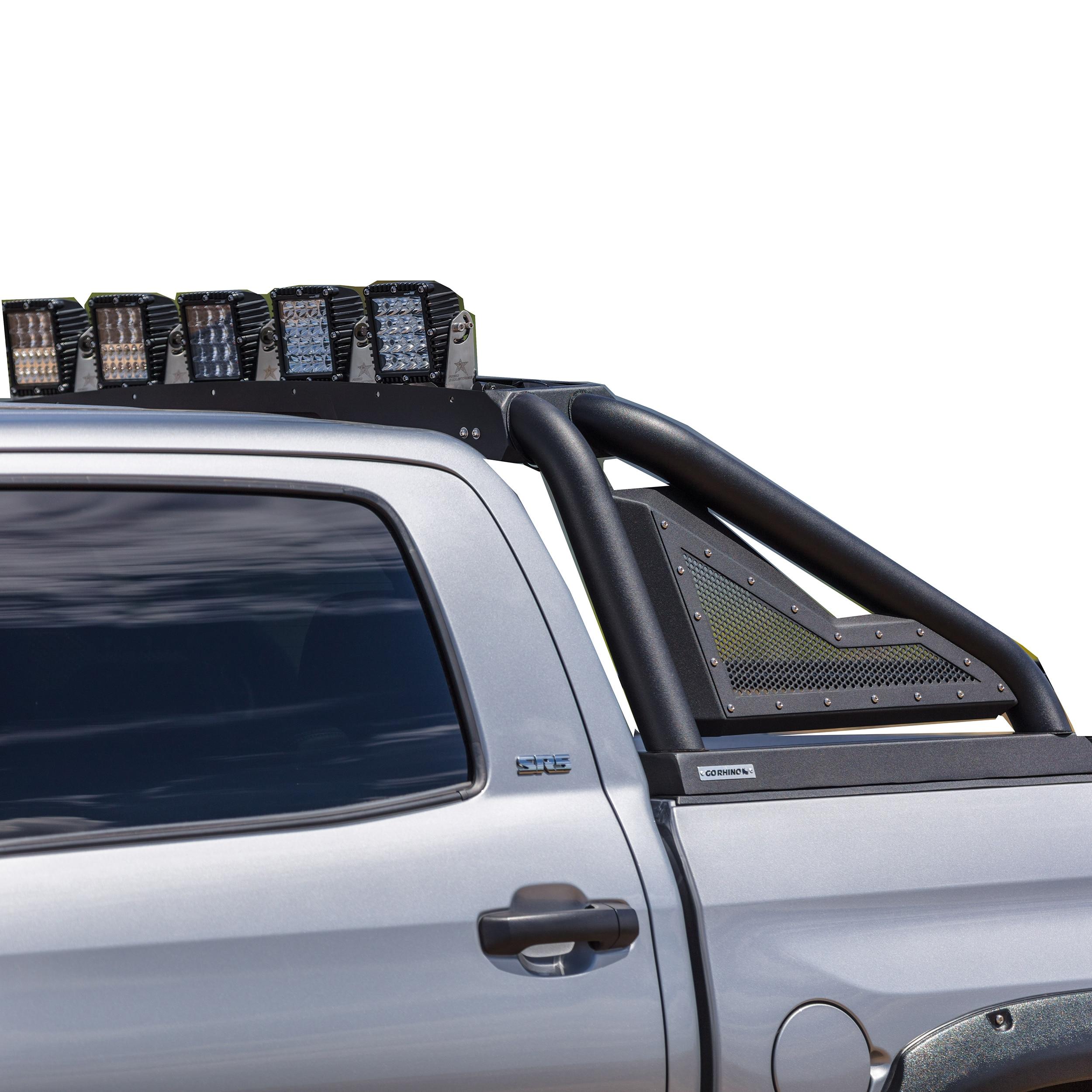 Go Rhino Black Sport Bar 2.0 w/ Power Retracting Light Mount