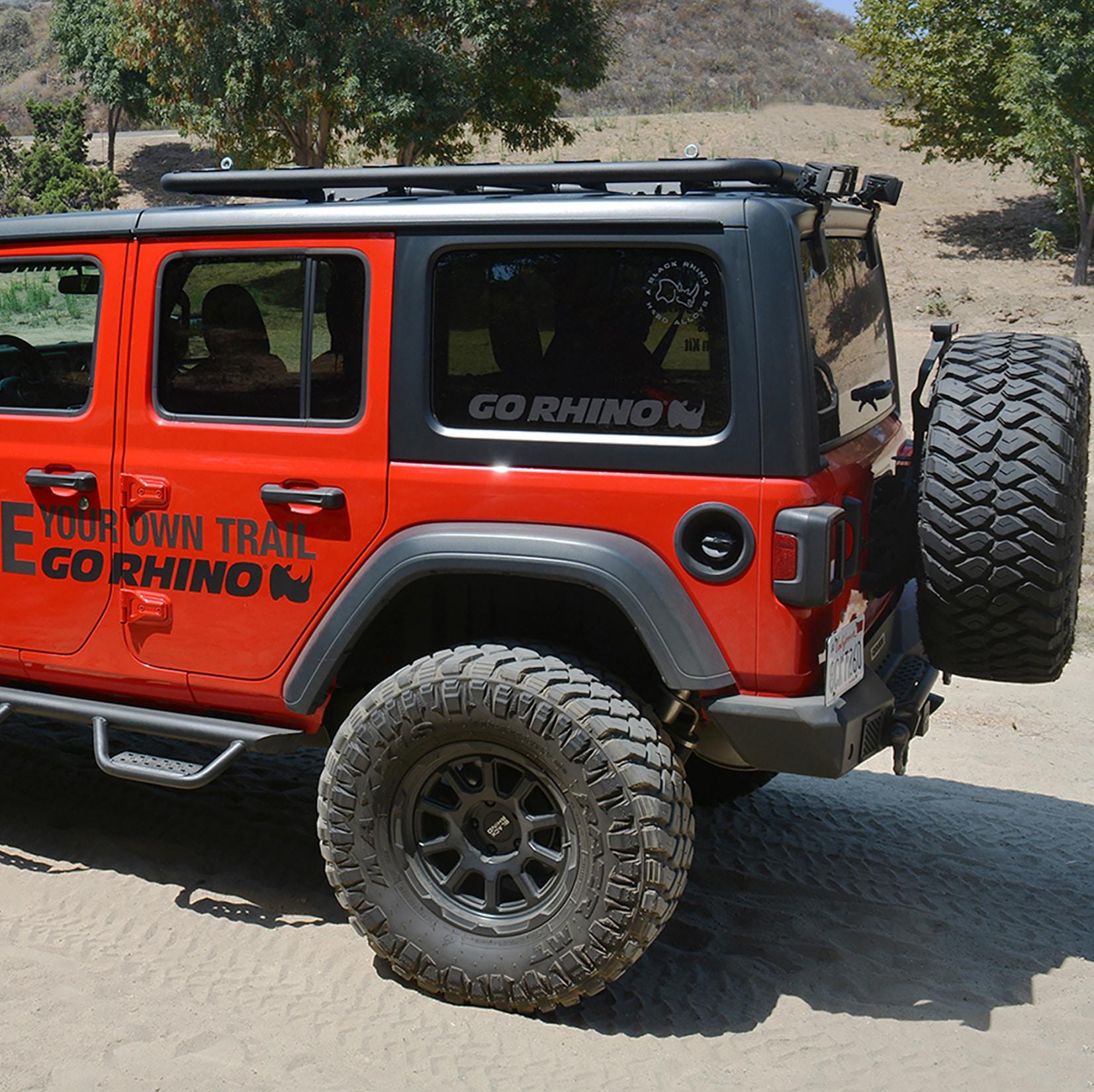 Go Rhino SRM500 Flat Rack Platform Carrier on Jeep