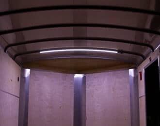 Battery Powered LED LIght Strip in Trailer