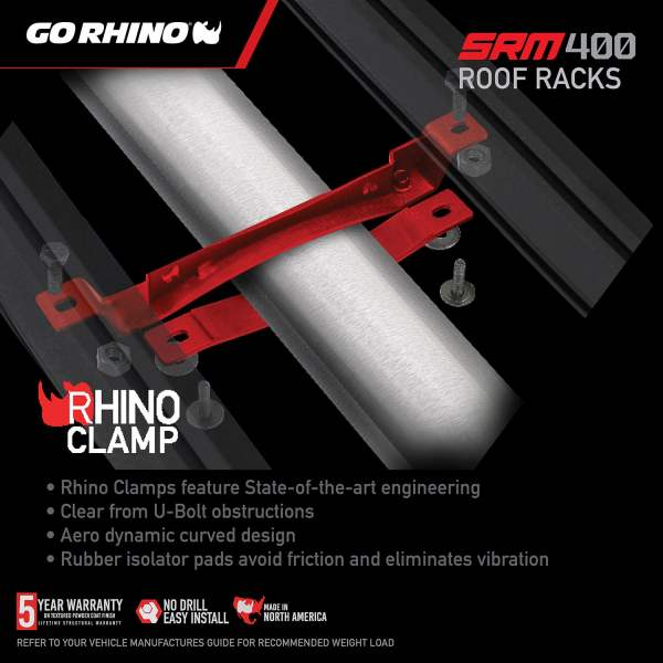 4 Rhino Clamps included for Mounting
