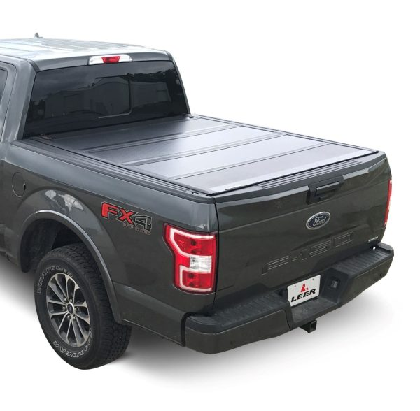 Leer HF650M Hard Quad Fold Tonneau Cover on Ford Truck