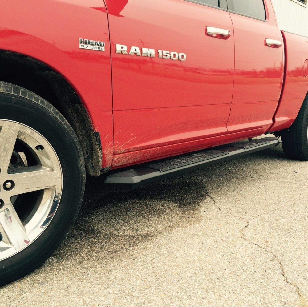 Matte Black Patriot Boards on Ram Truck
