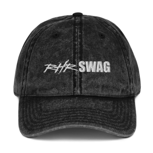 RHR Swag Vintage Cotton Twill Cap Black