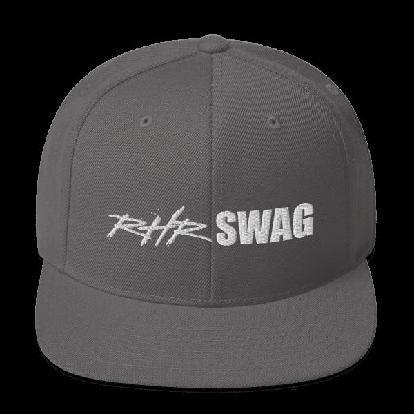 RHR Swag Snapback Flat Brim Ball Cap Grey