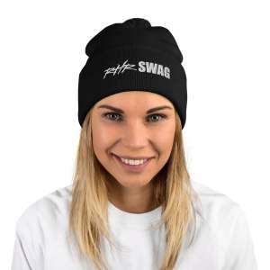 RHR Swag Pom-Pom Beanie Hat - Black