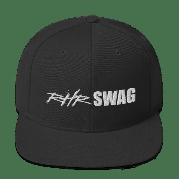 RHR Swag Snapback Flat Brim Ball Cap Black