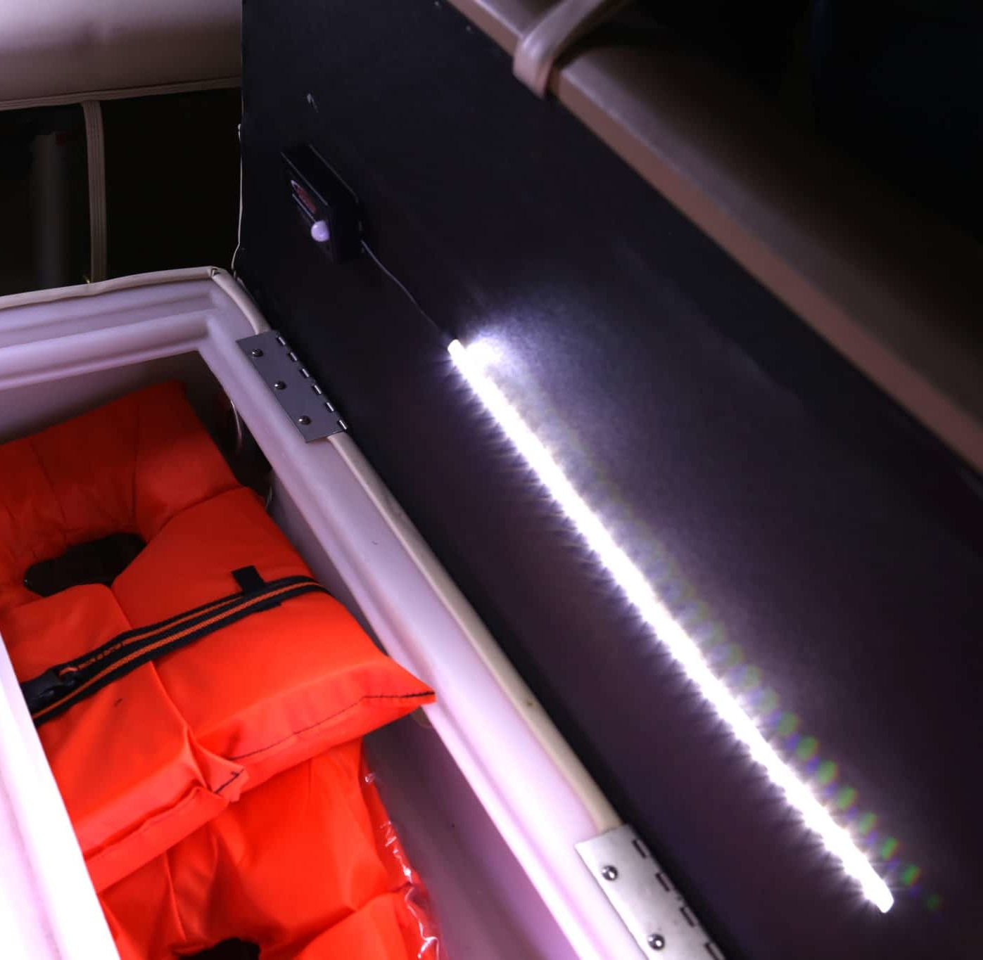 Motion Activated LED Lights in Boat