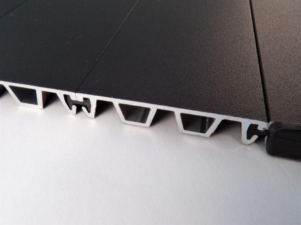 Interlocking Alum Panels Provide Maximum Security