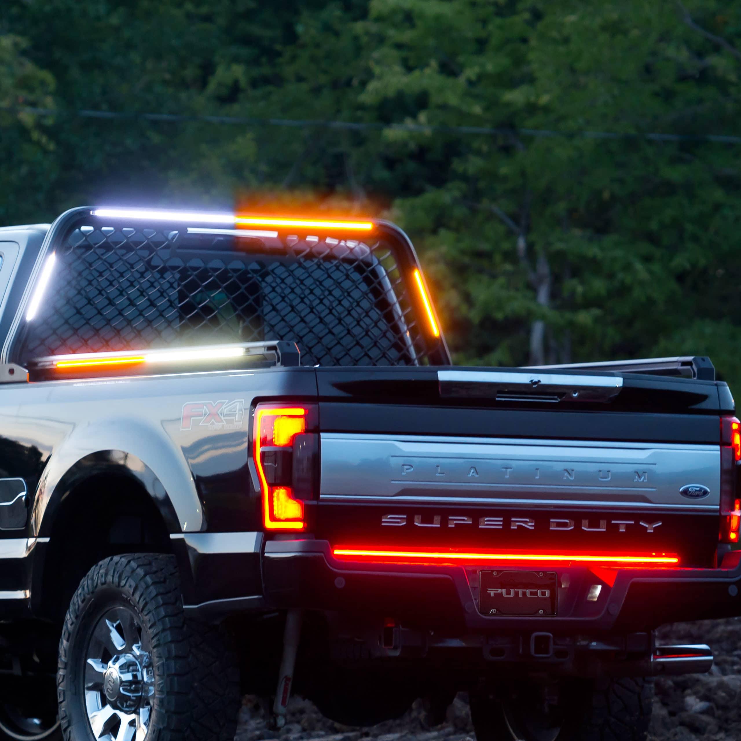 Blade LED Lights on Headache Rack & Bed Rails