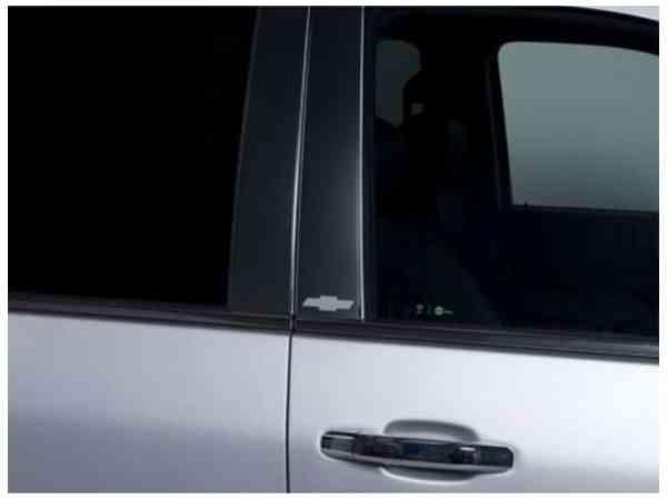 Putco Chevy Licensed Platinum Black Pillar Posts
