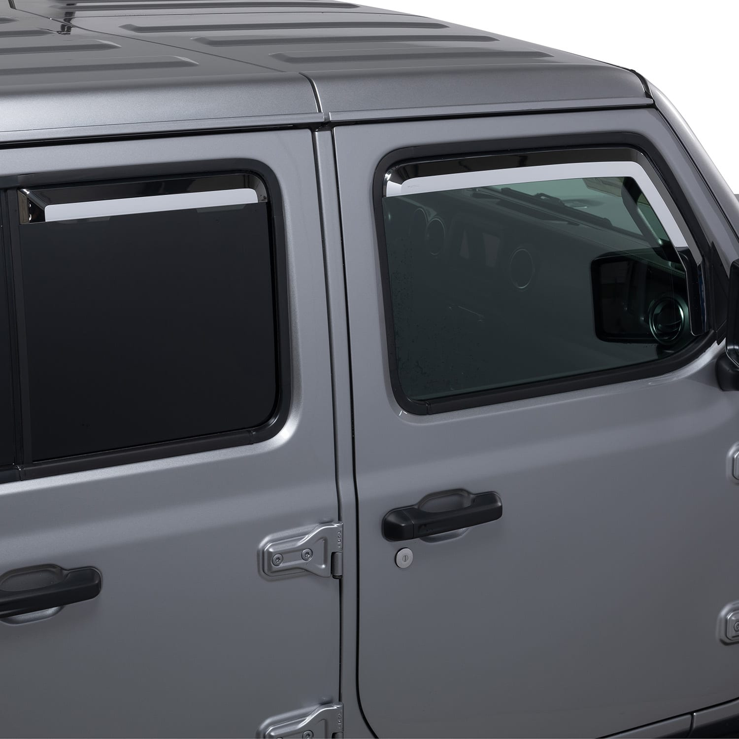 Chrome Window Deflectors for Jeep Wrangler