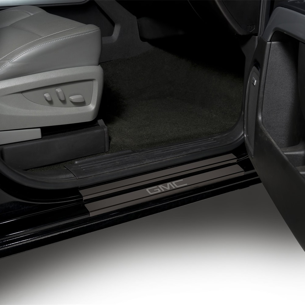 Putco GM licensed black Platinum Door Sill Plates