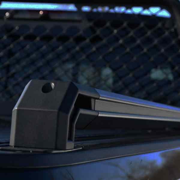 Tec Bed Rails Installed - Closeup