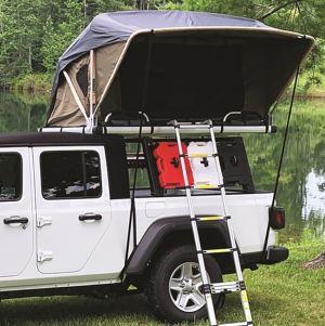 Raptor Voyager Tent on Truck Rack