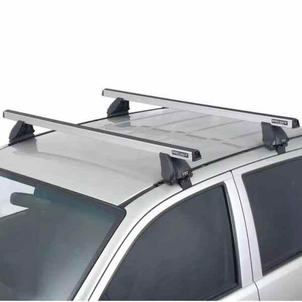 Rhino Rack HD 2500 Silver Roof Rack on Pickup