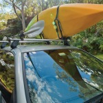 Rhino Rack S510 J Style Fixed Kayak Carrier with Paddle