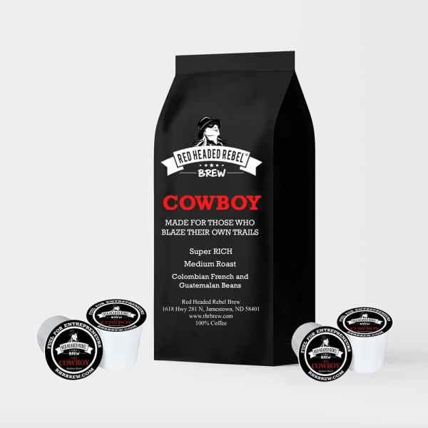 RHR Cowboy Coffee - Single Serve Cups - 10 Pack