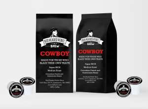 RHR Cowboy Coffee - Single Serve Cups - 20 Pack - Red Headed Rebel